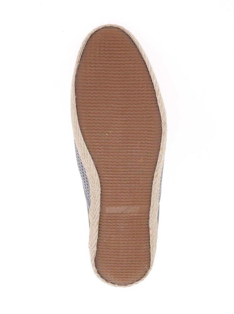 Espadrile gri  Burton Menswear London cu model cu perforații