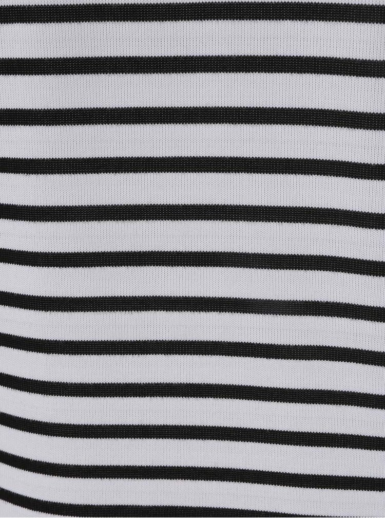 Rochie negru&alb în dungi QS by s.Oliver