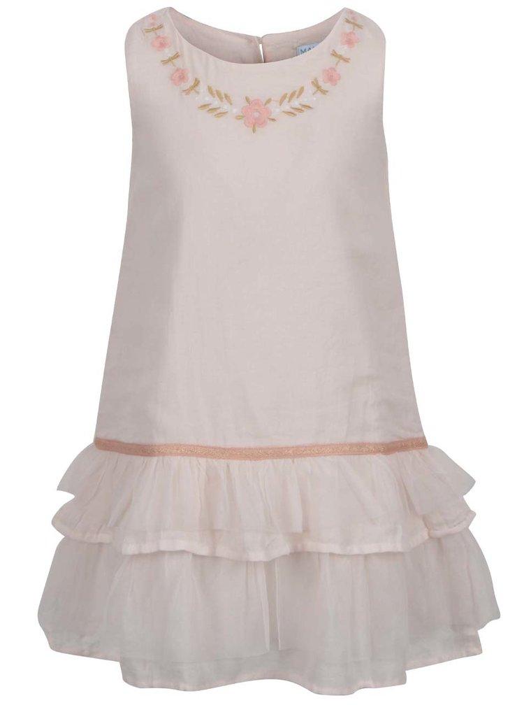 Světle růžové holčičí šaty s tylem 5.10.15.