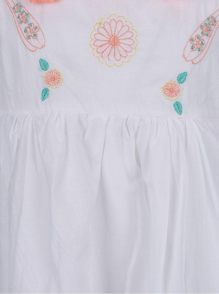 Krémové holčičí šaty s výšivkami 5.10.15.