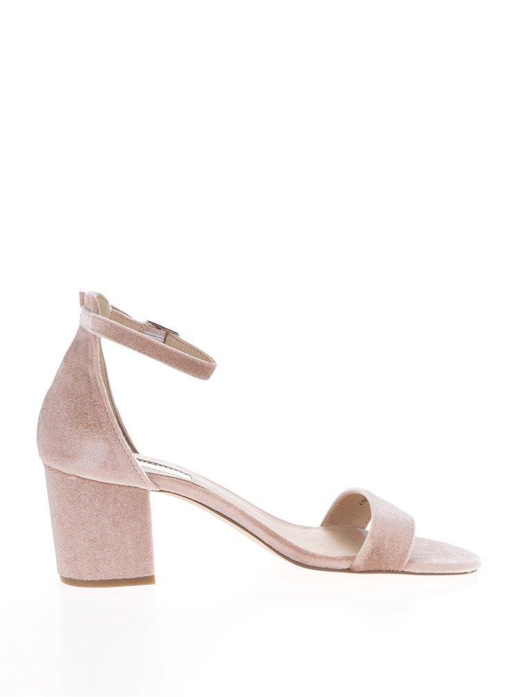 Sandale roz prăfuit Dorothy Perkins cu aspect catifelat
