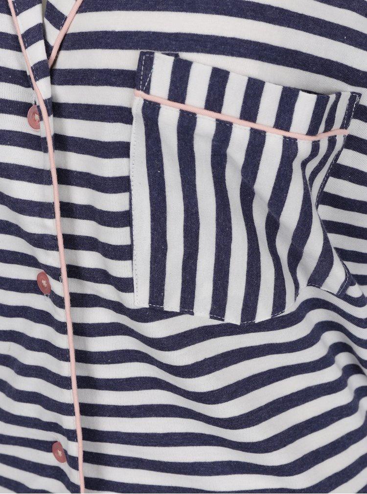 Modrá pruhovaná noční košile Dorothy Perkins
