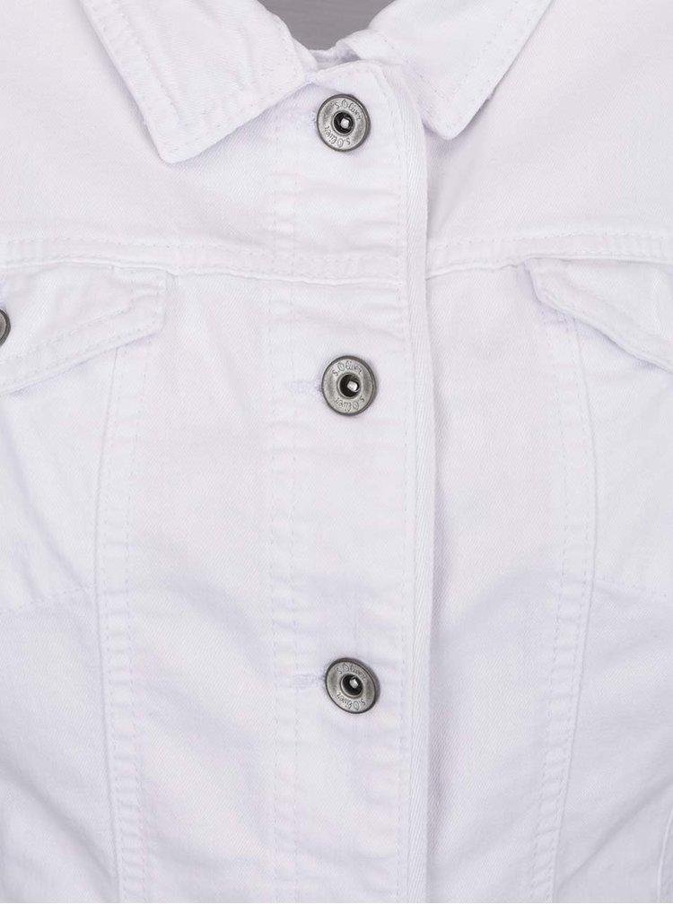 Bílá dámská džínová bunda s.Oliver