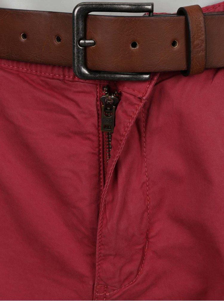 Pantaloni scurți chino vișinii s.Oliver pentru bărbați