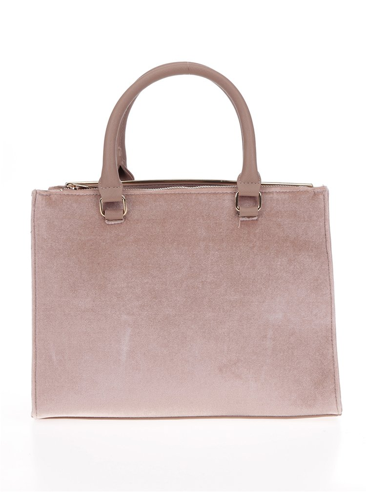 Geantă roz prăfuit Dorothy Perkins cu detalii aurii