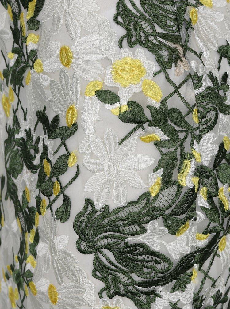Fustă crem Dorothy Perkins cu broderie florală