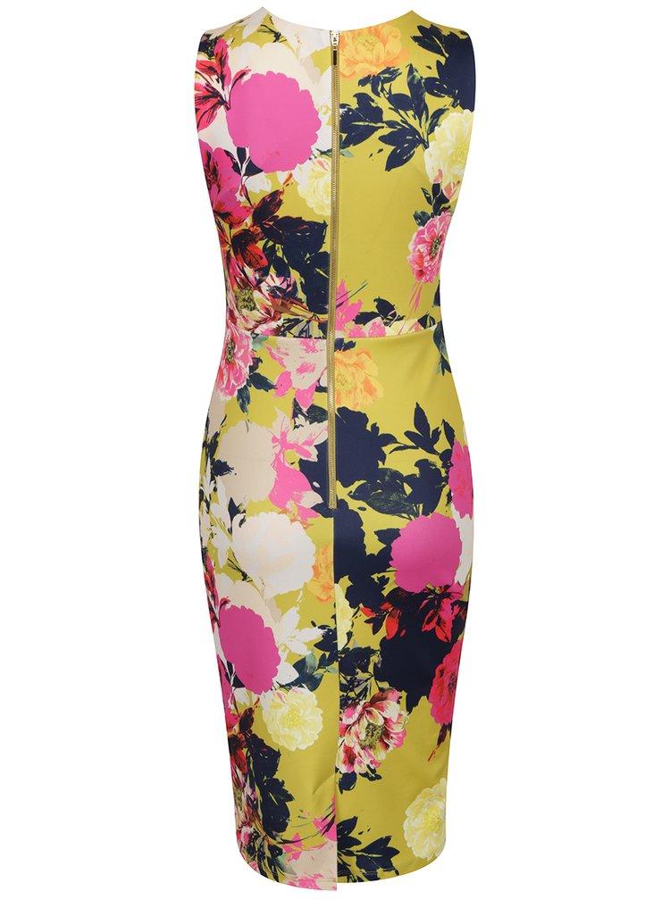 Ružovo-zelené puzdrové vzorované šaty Dorothy Perkins