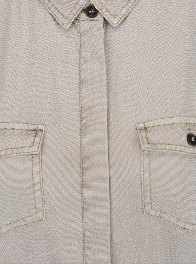 Béžové košilové šaty se zavazováním v pase s.Oliver