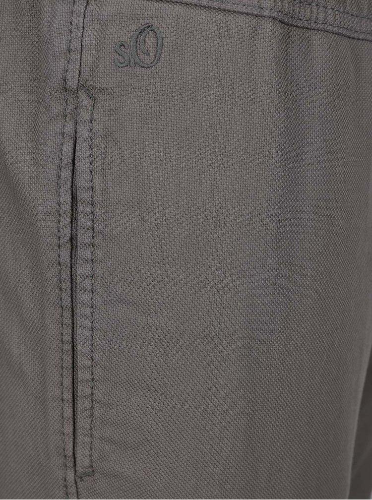 Pantaloni gri cu talie elastică s.Oliver pentru bărbați