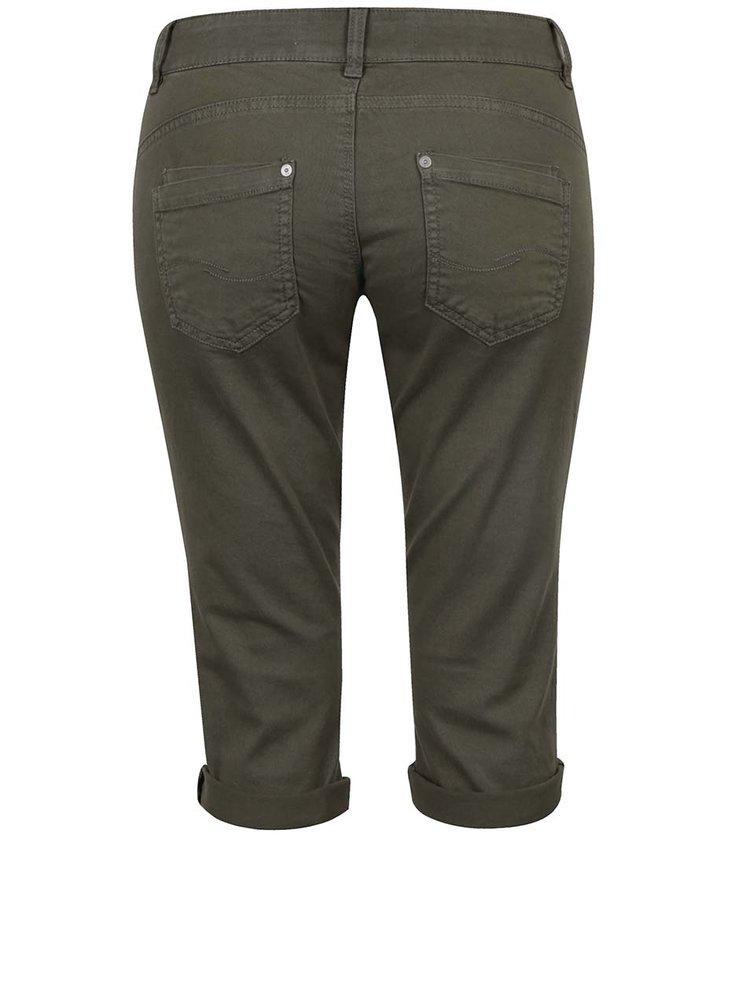 Pantaloni 3/4 slim fit kaki QS by s.Oliver pentru femei