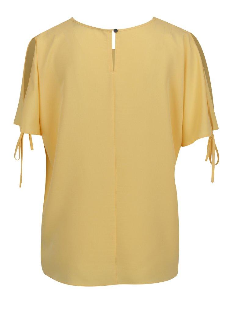 Bluza galbena Dorothy Perkins cu decupaje pe umeri