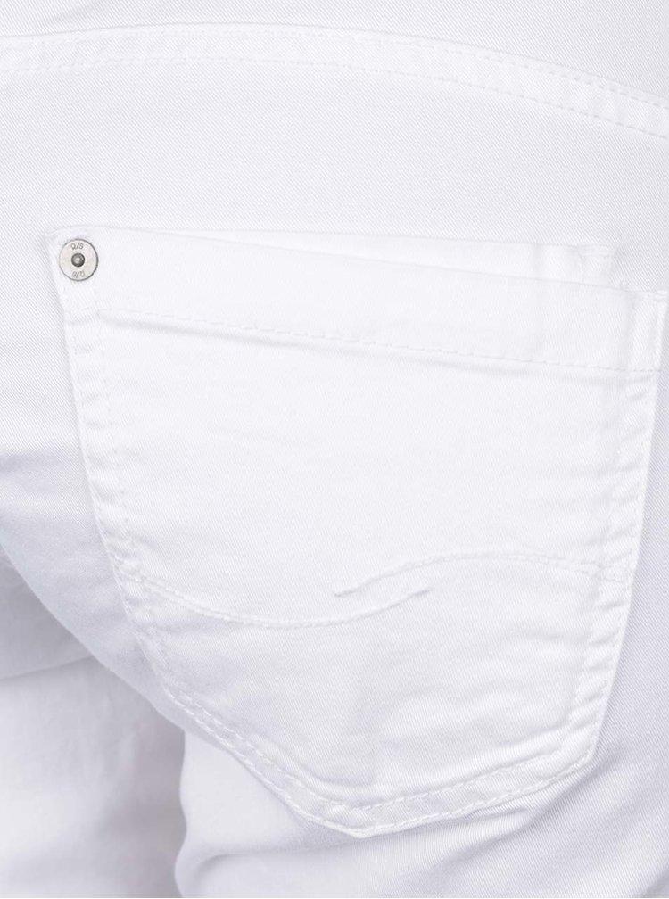 Pantaloni 3/4 slim fit albi QS by s.Oliver pentru femei