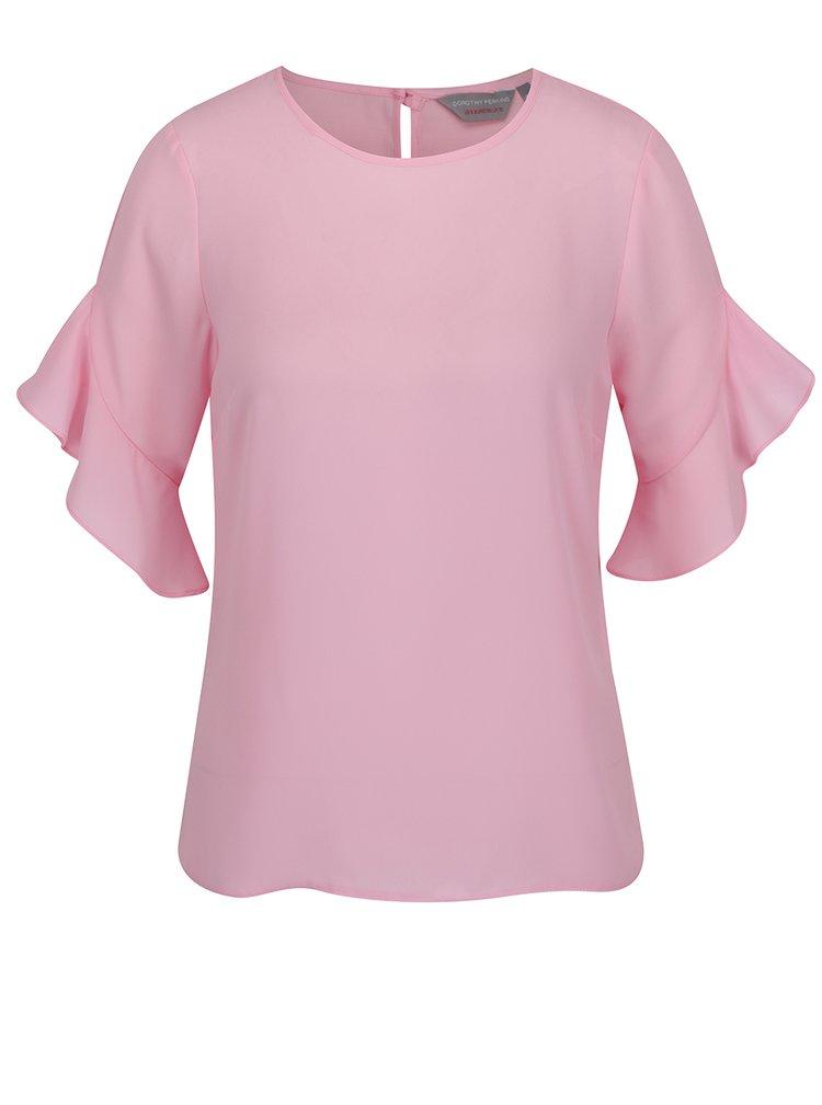 Bluza roz pal Dorothy Perkins Petite cu maneci clopot