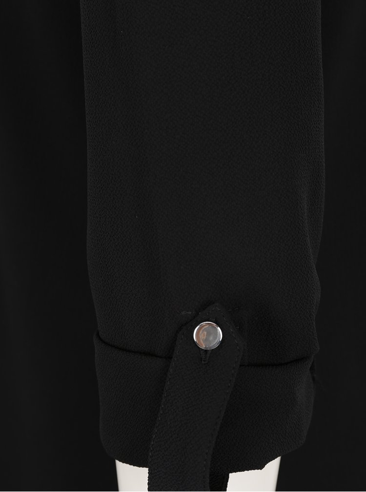 Cămașă neagră Dorothy Perkins Petite cu decupaje pe umeri