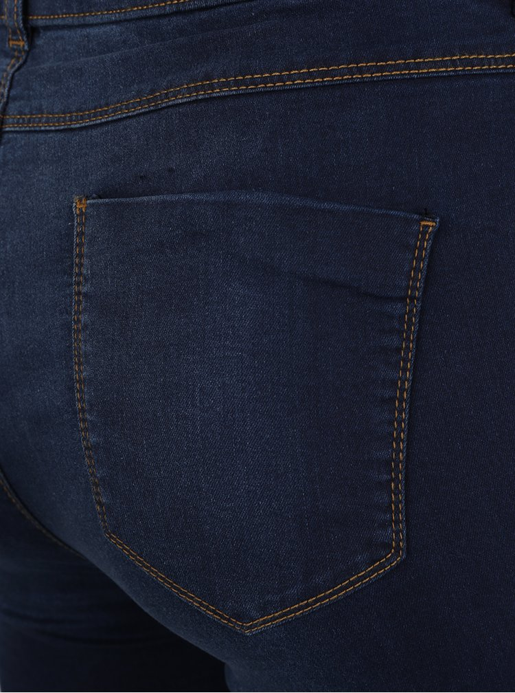 Blugi albastru inchis  Dorothy Perkins Curve cu aspect prespalat