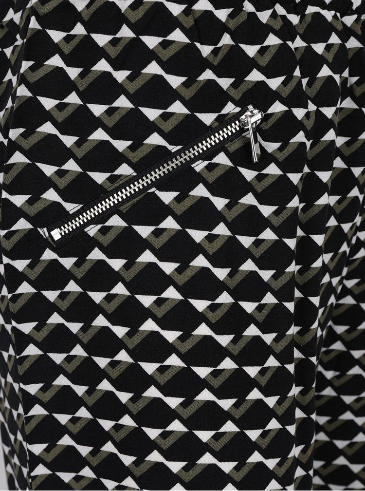 Černé vzorované kalhoty Dorothy Perkins