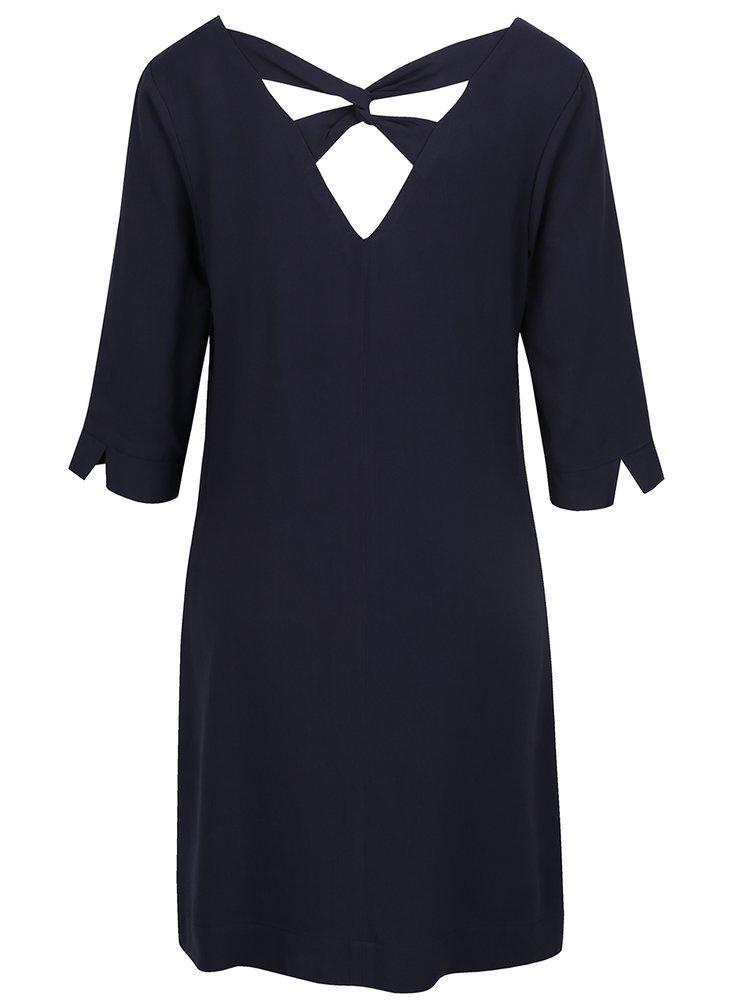 Tmavě modré šaty s pásky na zádech s.Oliver