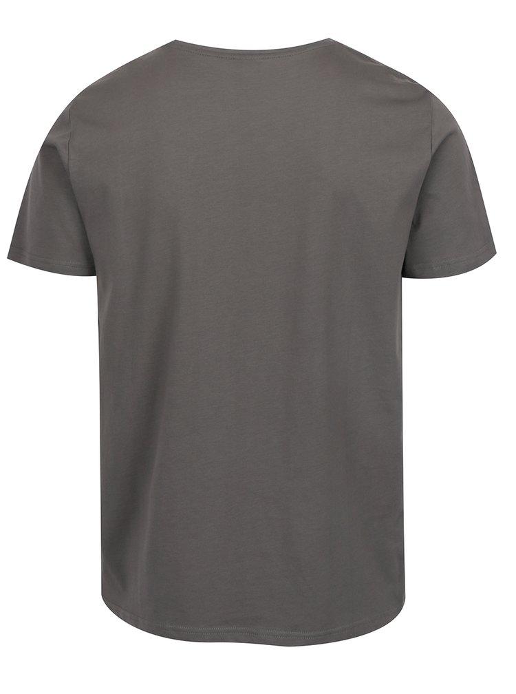 Tricou gri cu print s.Oliver pentru barbati