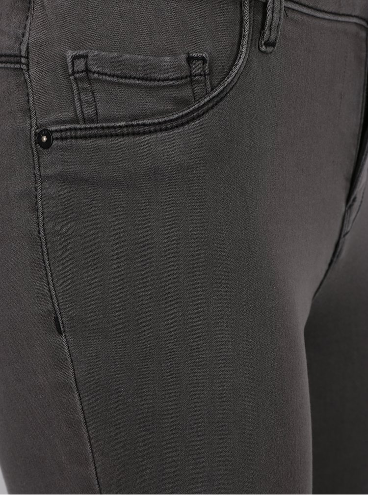 Šedé skinny džíny Jacqueline de Yong Ulle