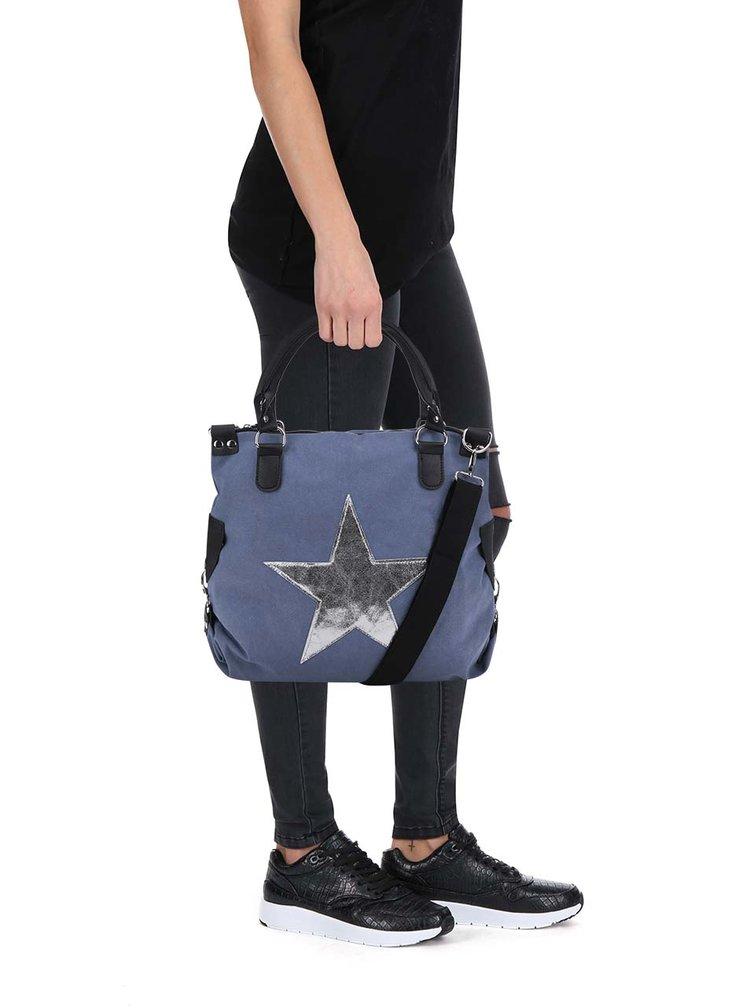 Geantă albastru deschis Haily's Star M cu imprimeu cu stea
