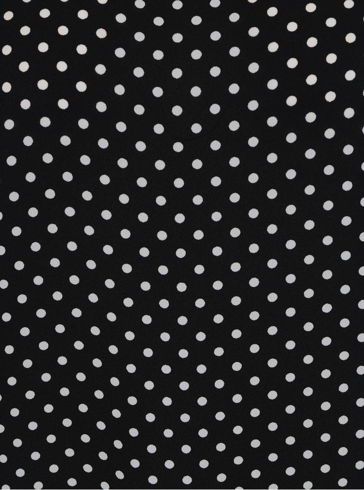 Černá puntíkovaná halenka s odhalenými rameny Dorothy Perkins