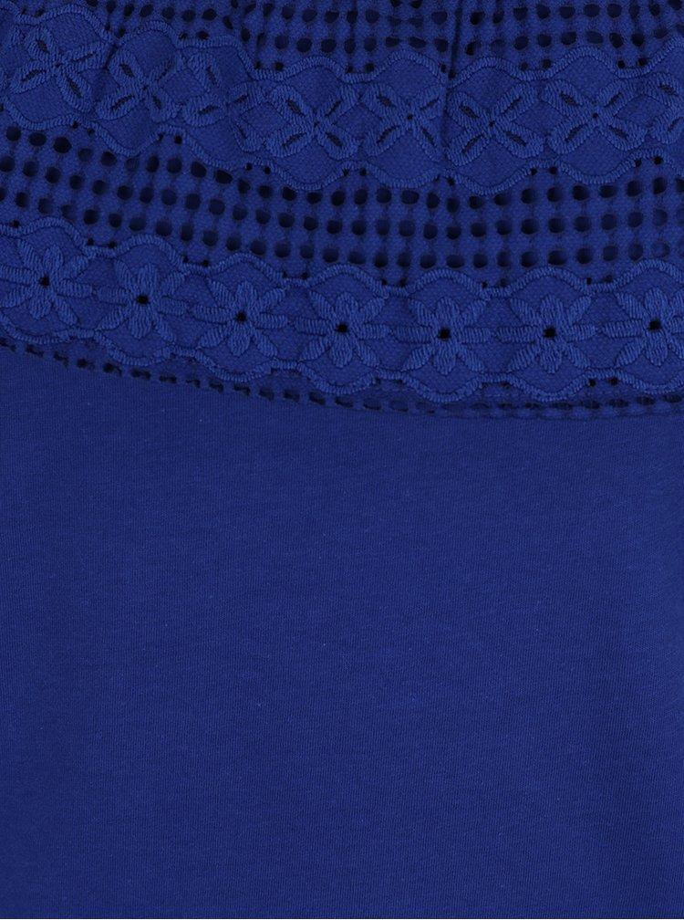 Top albastru inchis Dorothy Perkins cu decolteu pe umeri