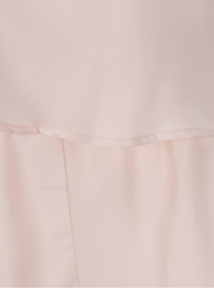 Salopetă roz cu detalii din dantelă - ONLY Swing