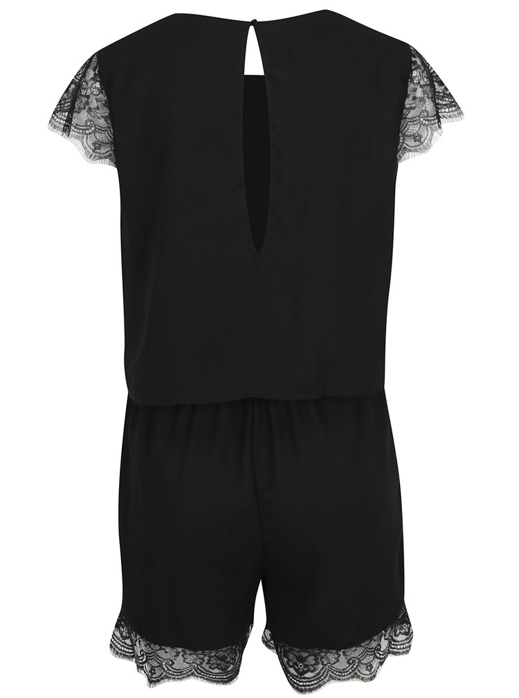 Černý overal s krajkovými detaily ONLY Swing