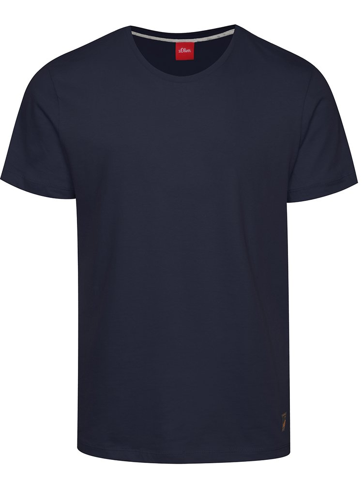Tmavě modré pánské basic triko s krátkým rukávem s.Oliver