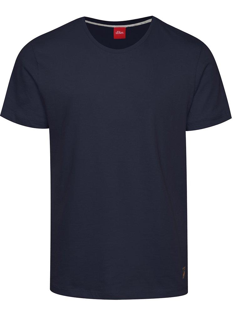 Tricou basic bleumarin din bumbac s.Oliver pentru barbati