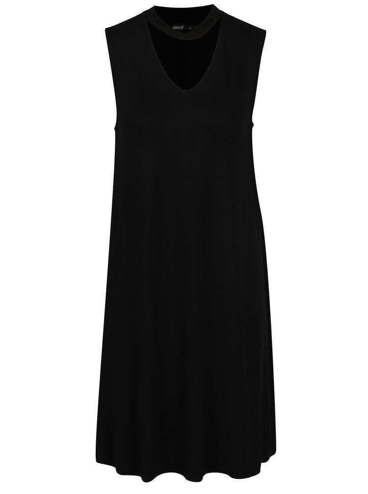 Černé šaty s chokerem ONLY Ashape