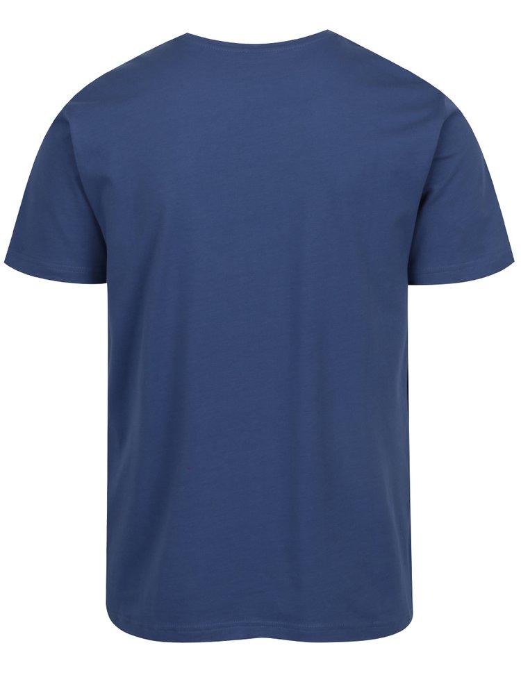 Tricou basic albastru din bumbac s.Oliver pentru barbati