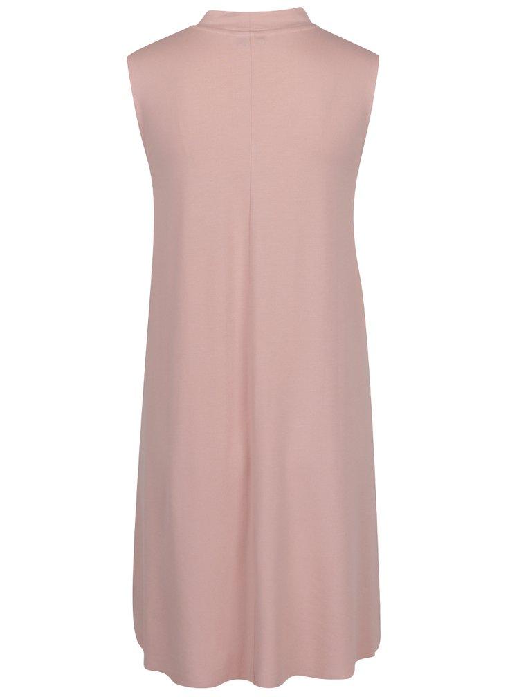 Světle růžové šaty s chokerem ONLY Ashape
