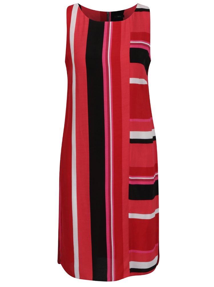 Červené pruhované šaty M&Co
