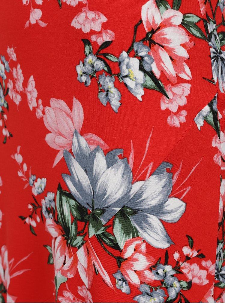 Fusta rosie M&Co cu imprimeu floral