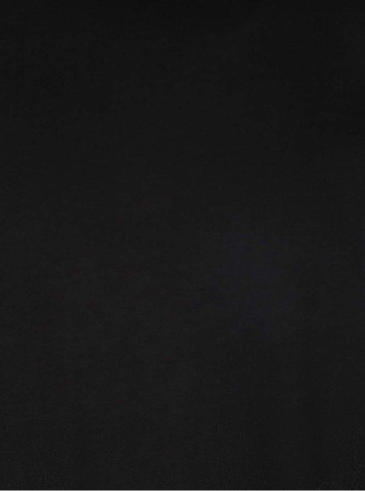 Černé pánské basic triko s kulatým výstřihem s.Oliver