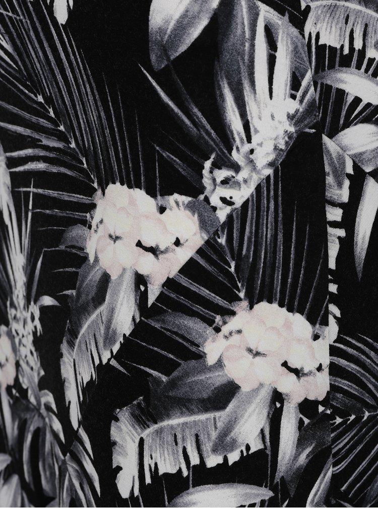 Fustă neagră M&Co cu imprimeu floral