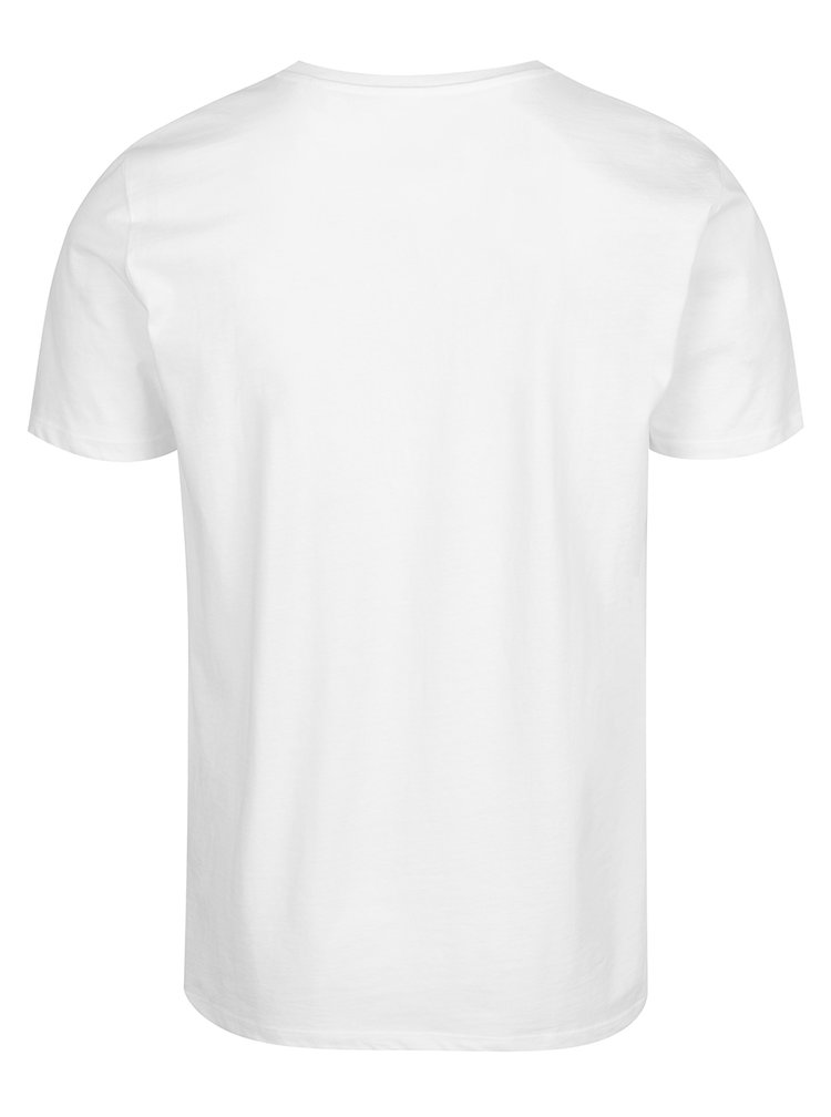 Tricou basic alb din bumbac s.Oliver pentru bărbați