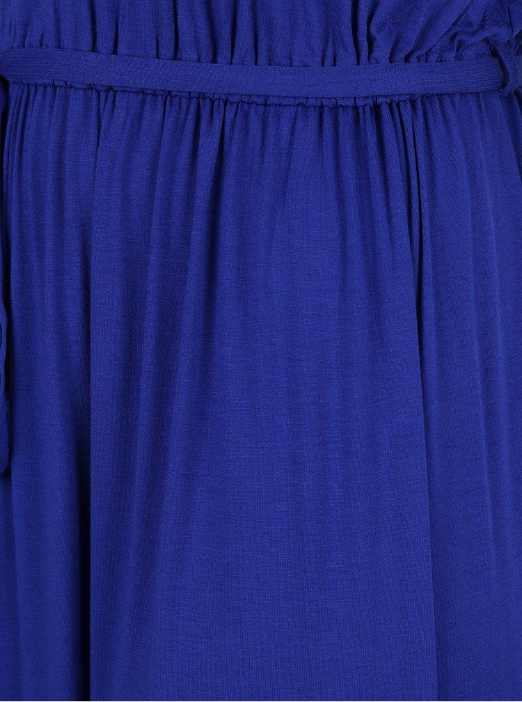 Modré maxišaty s krátkým rukávem Dorothy Perkins Curve