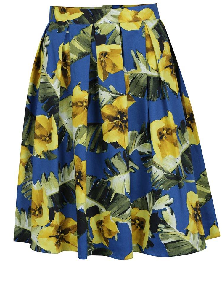 Fusta albastra Dorothy Perkins cu imprimeu floral