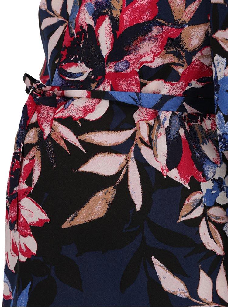 Bluza albastru inchis Mama.licious Flay cu imprimeu floral