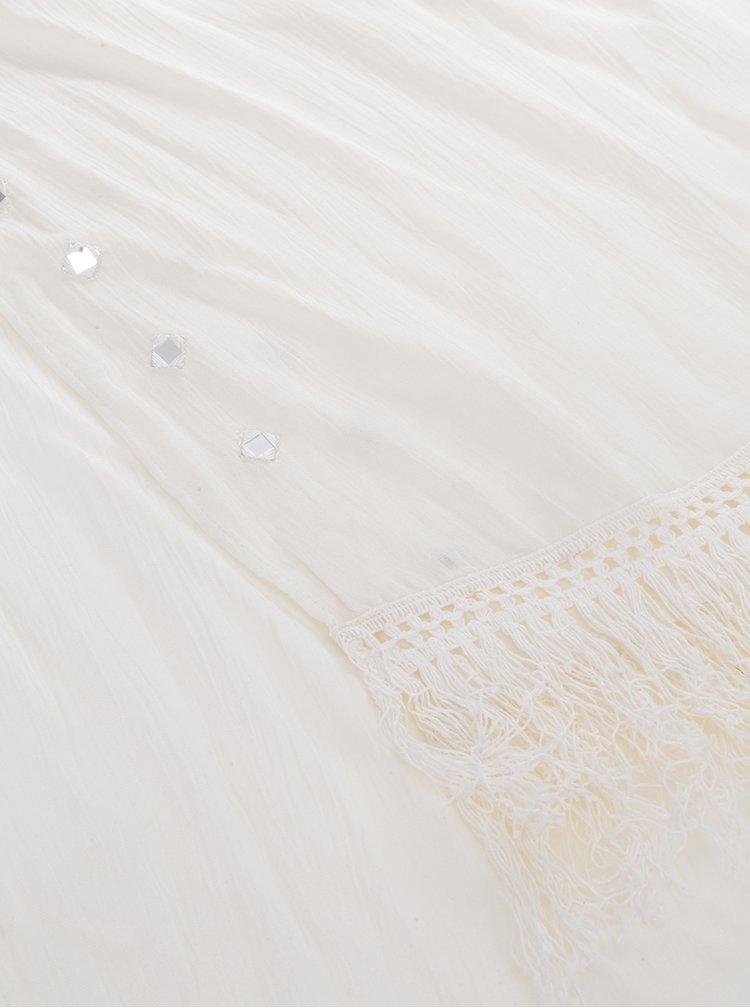 Krémový šátek s třásněmi Dorothy Perkins