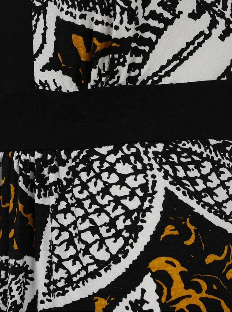 Krémovo-černé vzorované maxišaty M&Co