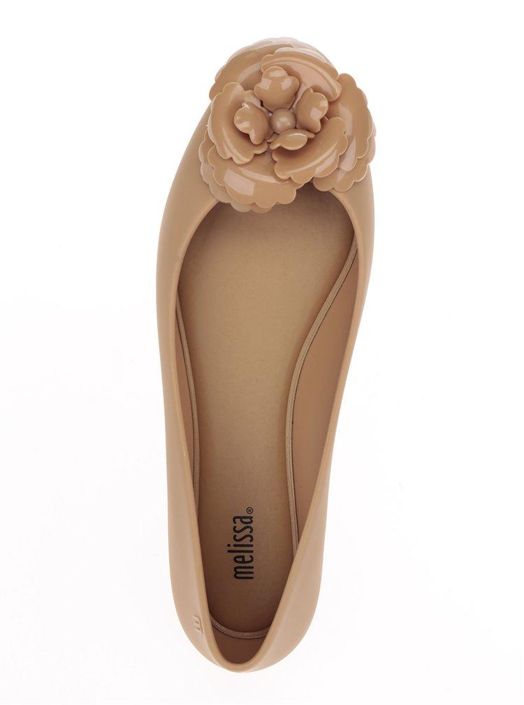 Balerini bej cu detaliu floral Melissa Doll Fem