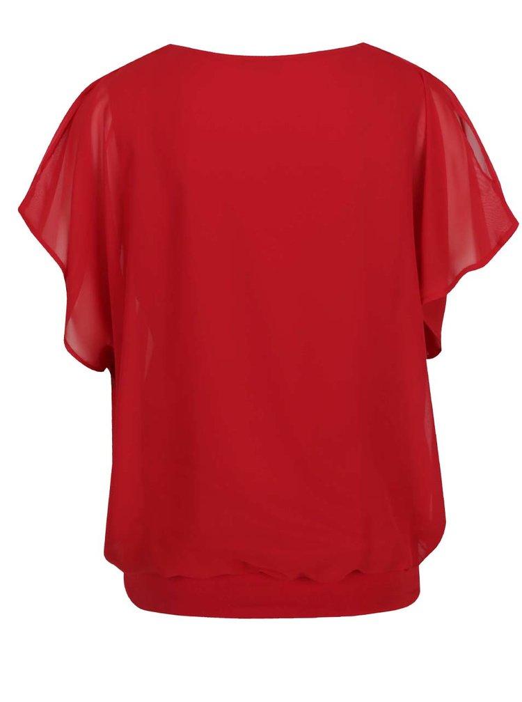 Top roșu  M&Co cu mâneci clopot