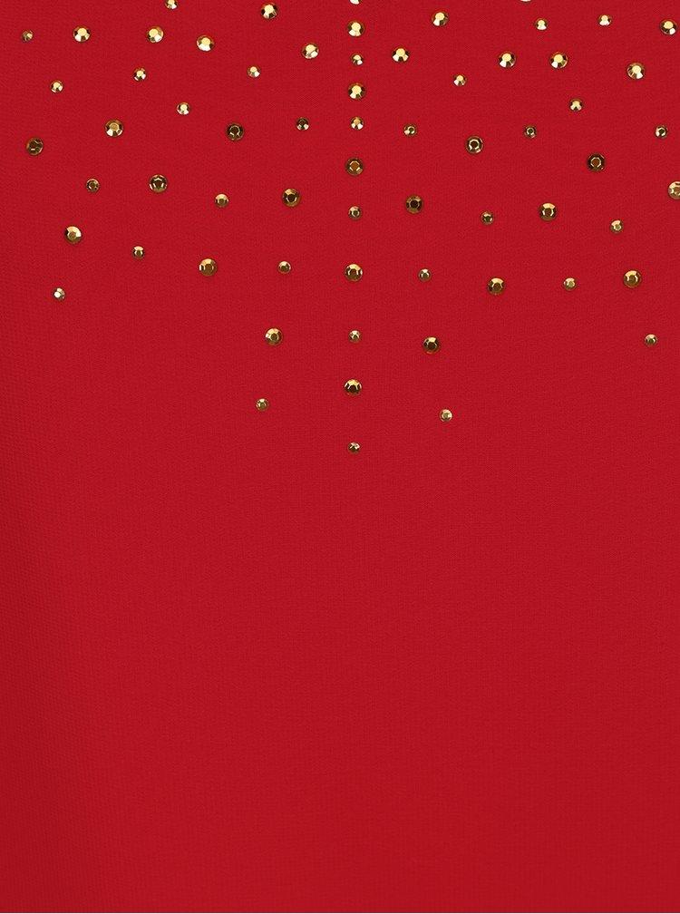Červená halenka s netopýřími rukávy M&Co