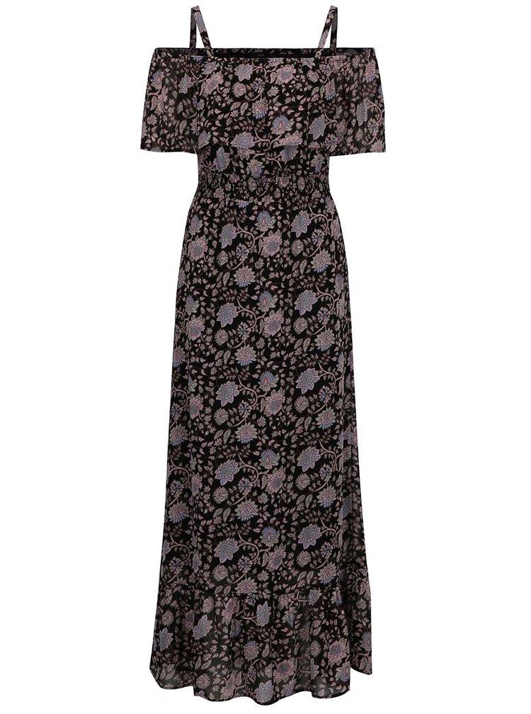 Rochie maxi neagra M&Co cu imprimeu floral