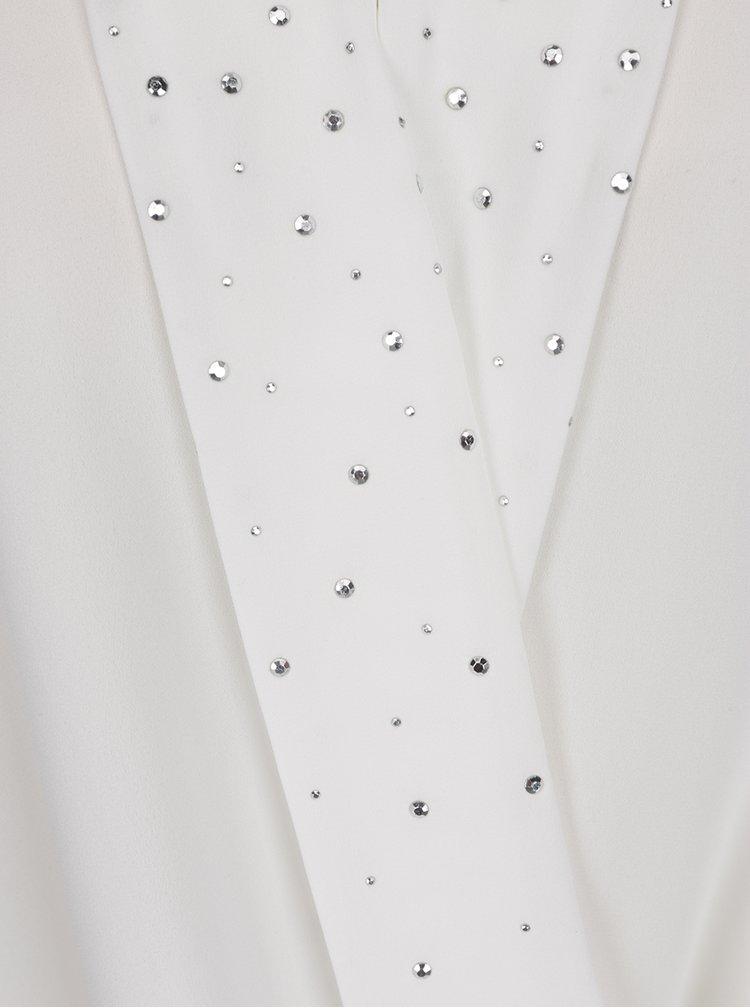 Top alb M&Co cu ștrasuri aplicate