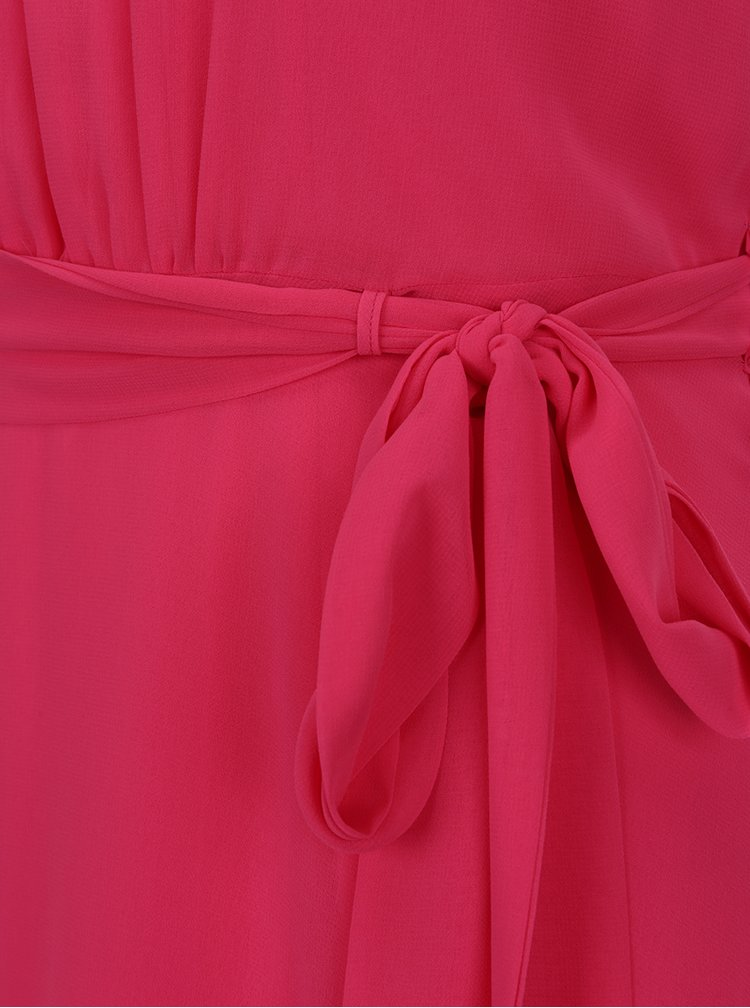 Rochie roz M&Co cu tiv asimetric