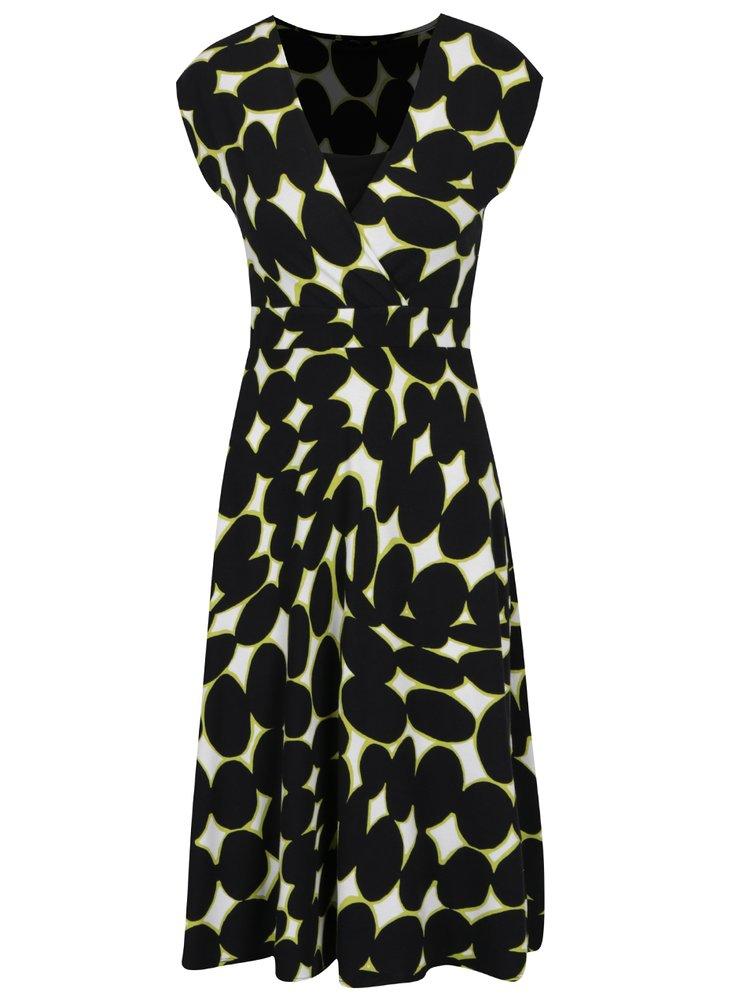Rochie verde&negru M&Co cu model cu buline